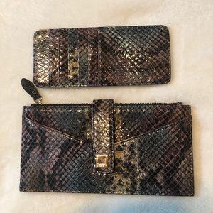 LODIS Wallet Snakeskin Multi-color Leather NWOT